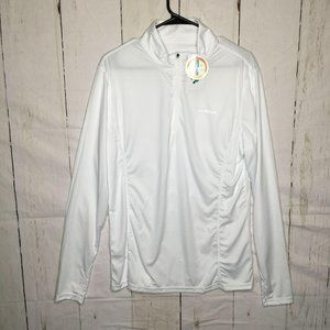 Hiskywin Mens Pullover Quarter Zip Up White XL NWT